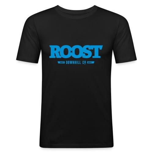 Roost Celebrator Black - Men's Slim Fit T-Shirt