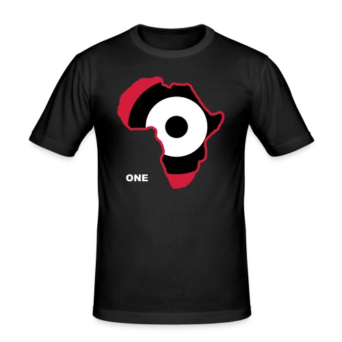 afrika 3farbig one weiss - Men's Slim Fit T-Shirt
