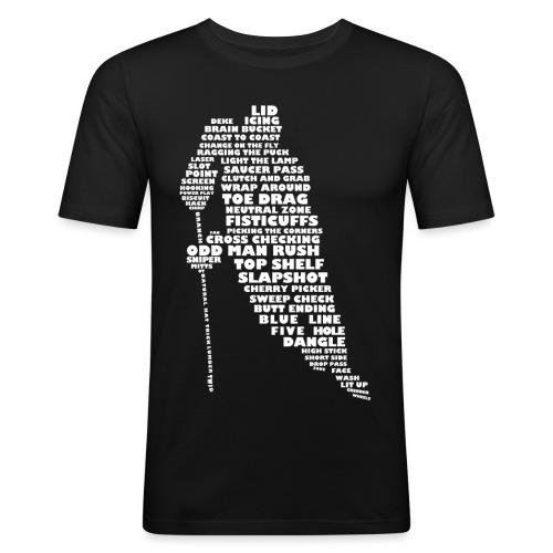 Language of Hockey (White) - Men's Slim Fit T-Shirt
