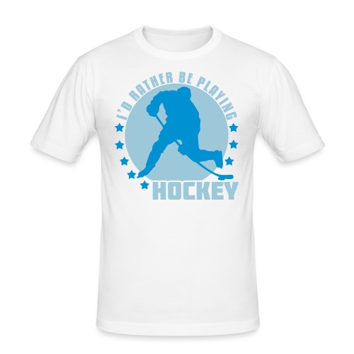 id_rather_be_playing_hock - Men's Slim Fit T-Shirt