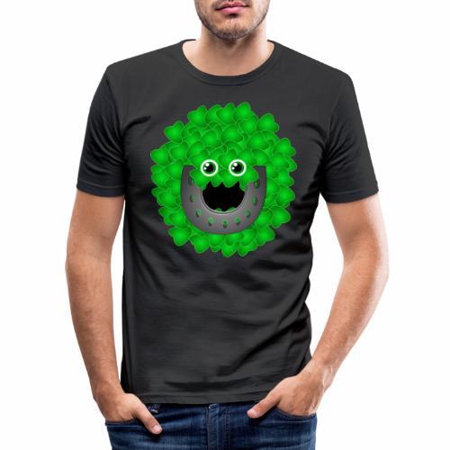 luckyface - Männer Slim Fit T-Shirt