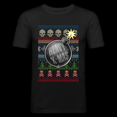 Heavy X-Mas Christbaumkugel-Bombe - Männer Slim Fit T-Shirt