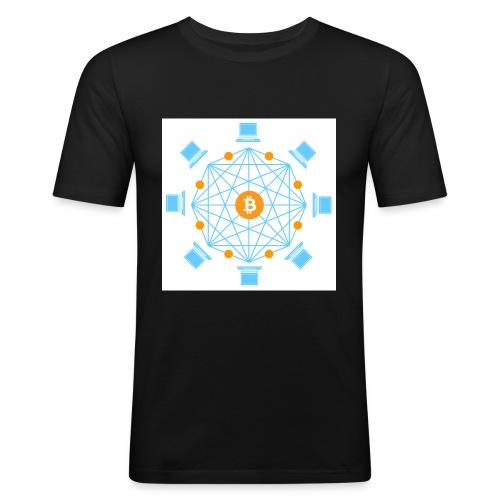 Blockchain - Miesten tyköistuva t-paita