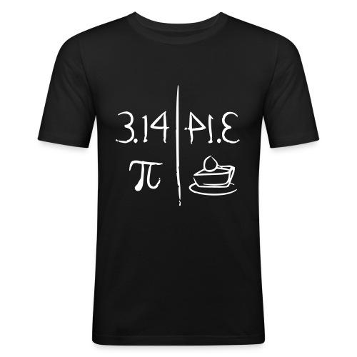pi vs pie - Men's Slim Fit T-Shirt