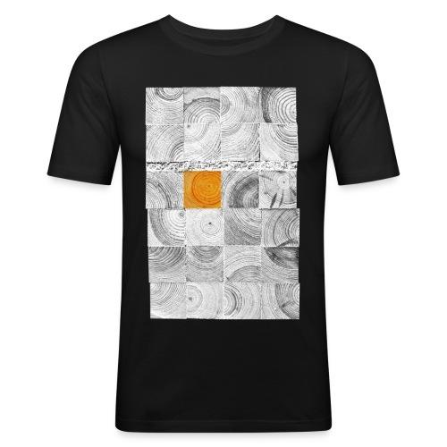 Cubes de Bois - T-shirt près du corps Homme