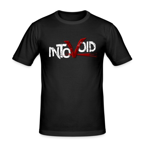 intovoid weiss tr png - Männer Slim Fit T-Shirt
