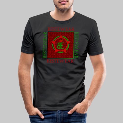 #Bestewear - Royal Line (Green/Red) - Männer Slim Fit T-Shirt