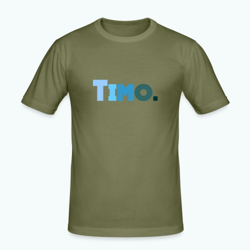 Timo in blauwe tinten - Mannen slim fit T-shirt