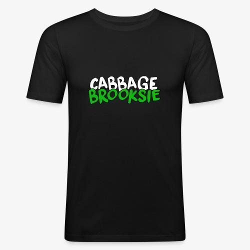 cabbagebrooksie logo v2 - Men's Slim Fit T-Shirt