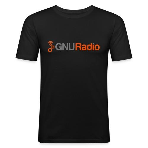GNU Radio Logo No Tagline - Männer Slim Fit T-Shirt