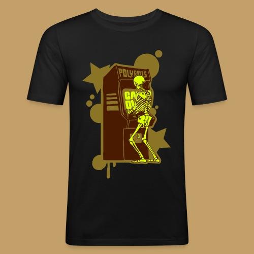 Hi-Score Gold and Neon - Obcisła koszulka męska