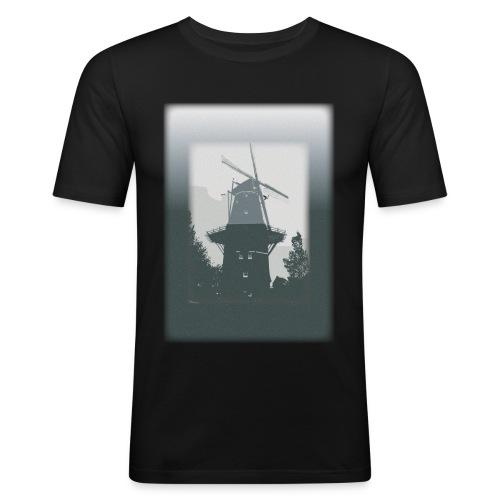 Mills grey - Obcisła koszulka męska