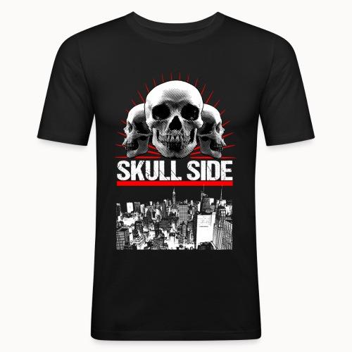 skull side city - Männer Slim Fit T-Shirt