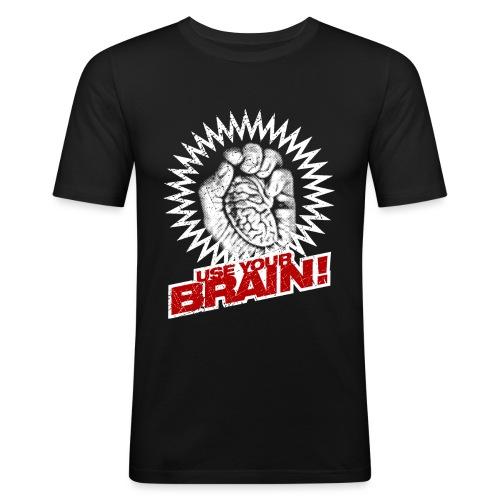Use Your Brain! - Männer Slim Fit T-Shirt