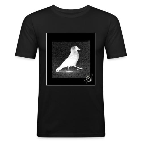 Cool Jackdaw by BlackenedMoonArts, w. logo - Herre Slim Fit T-Shirt