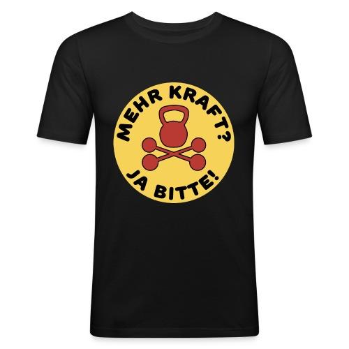 Mehr Kraft? Ja Bitte! Gewichtheber/Fitness Design - Männer Slim Fit T-Shirt