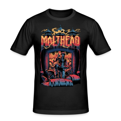 Malthead Whisky Fan Shirt - Whisky Turntable - Männer Slim Fit T-Shirt