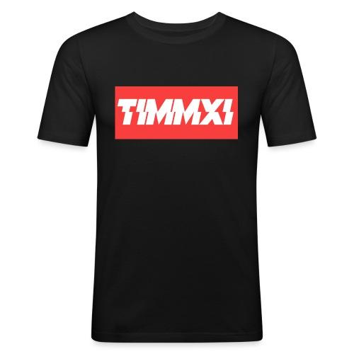 TimmXI T-shirt Zwart - Mannen slim fit T-shirt