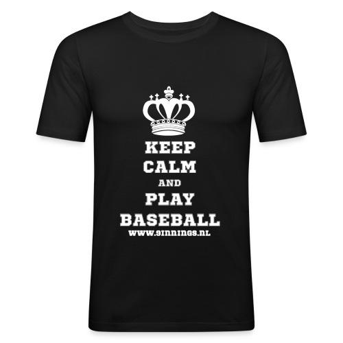 keepcalm_white_transparan - slim fit T-shirt