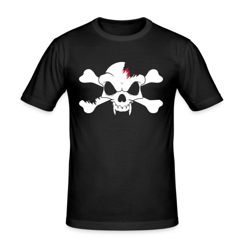SKULL N CROSS BONES.svg - Men's Slim Fit T-Shirt