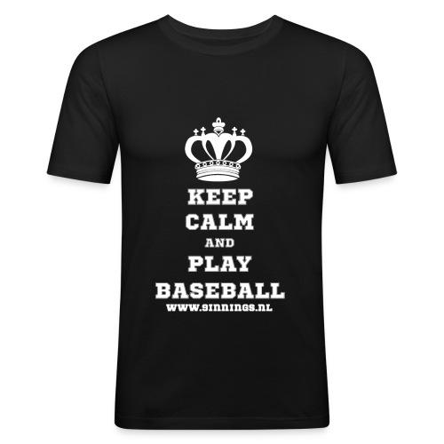 keepcalm_white_transparan - Mannen slim fit T-shirt