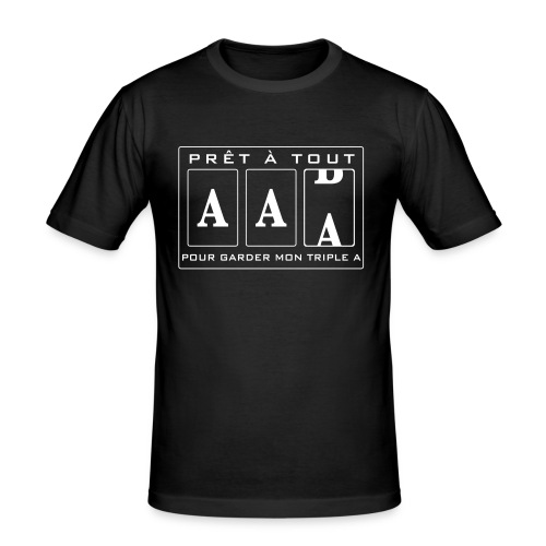 Triple A - T-shirt près du corps Homme
