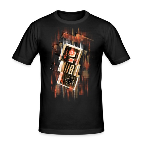 Blurry NES - Men's Slim Fit T-Shirt