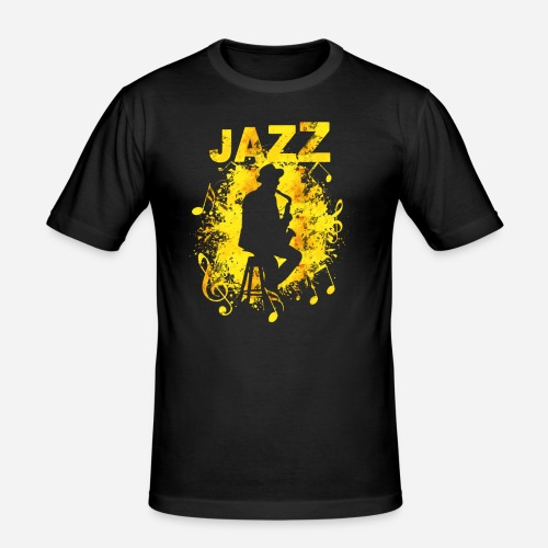 Jazz Saxophonist - Männer Slim Fit T-Shirt
