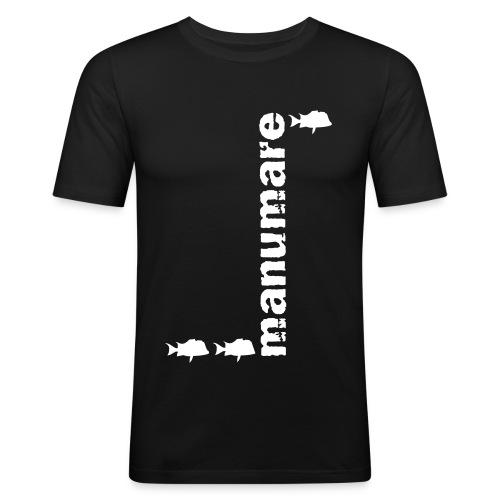 manumare_3_fische_in_grau - Männer Slim Fit T-Shirt