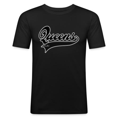 queens new york - Slim Fit T-skjorte for menn