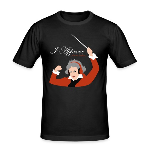 I Approve (Red) - Slim Fit T-shirt herr