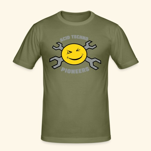 ACID TECHNO PIONEERS - SILVER EDITION - Men's Slim Fit T-Shirt