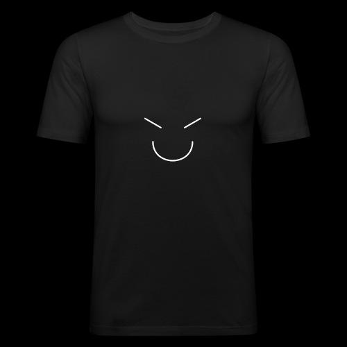 Gute Laune Weiss - Männer Slim Fit T-Shirt