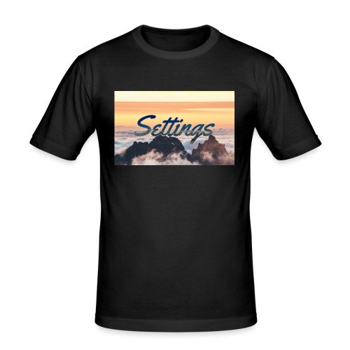 Settings Clouds - Men's Slim Fit T-Shirt