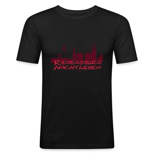 Regensburg Nachtleben - Männer Slim Fit T-Shirt