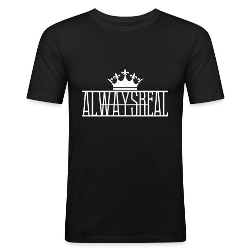AlwaysReal Weiss - Männer Slim Fit T-Shirt