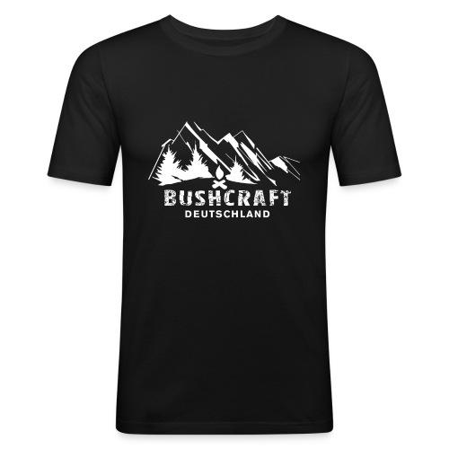 Bushcraft_1_white - Männer Slim Fit T-Shirt