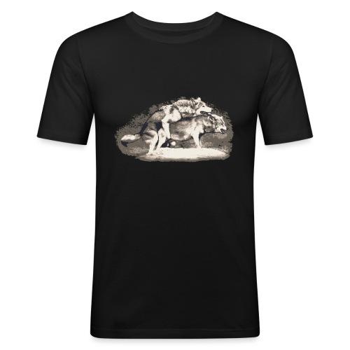 Wolf Loup Lupo Lobo - Men's Slim Fit T-Shirt