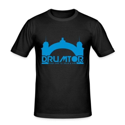 drumtor logo frei bw - Männer Slim Fit T-Shirt