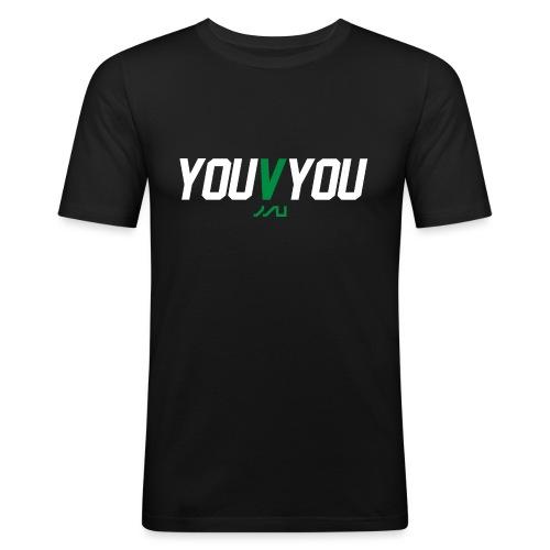 youVyou motivational fitness T-Shirt - Men's Slim Fit T-Shirt