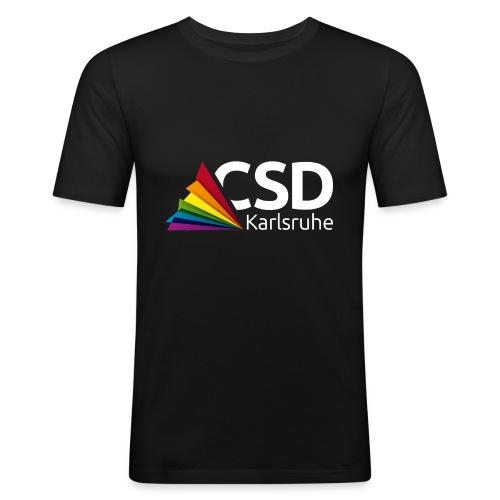 Logo CSD Karlsruhe (weiß) - Männer Slim Fit T-Shirt