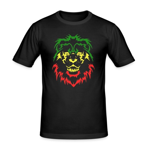 KARAVAAN Lion Reggae - Mannen slim fit T-shirt