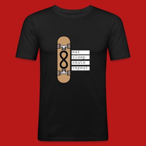 eat sleep skate repeat - slim fit T-shirt