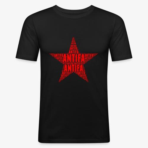 Roter Stern Antifa - Männer Slim Fit T-Shirt