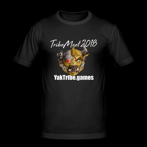 YakTribe Tribemeet 2018 Dark - Men's Slim Fit T-Shirt