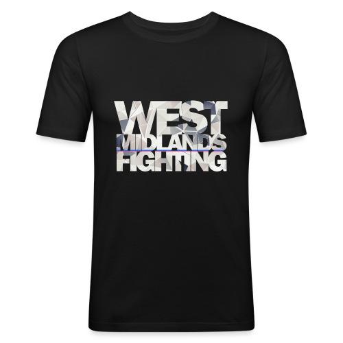 WMF low poly light - Men's Slim Fit T-Shirt