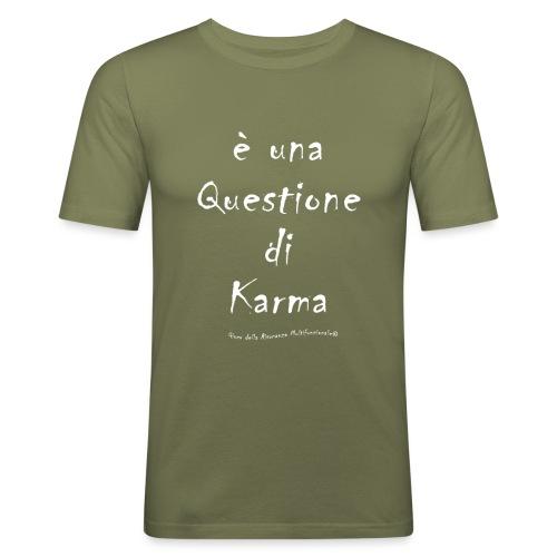 questione di Karma Bianco - Maglietta aderente da uomo