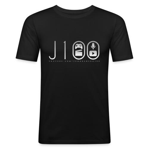 dickertextweiss - Männer Slim Fit T-Shirt