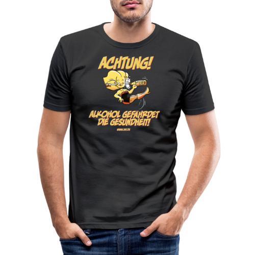 Alkohol gefährdet die Gesundheit - Männer Slim Fit T-Shirt