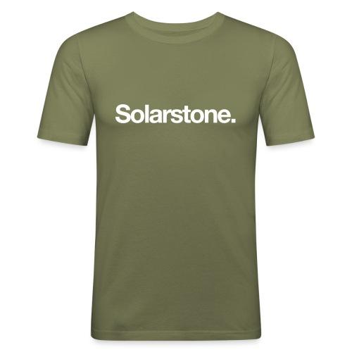 Solarstone Logo White - Men's Slim Fit T-Shirt